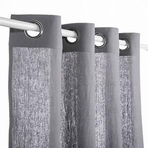 Rideau En Lin Ikea : rideau lin boh me gris mondial tissus ~ Teatrodelosmanantiales.com Idées de Décoration