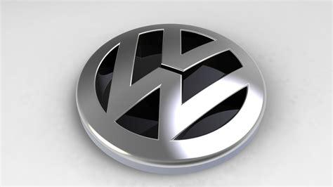Logo 3d by Volkswagen Logo Car Volkswagen 3d Model Cgtrader