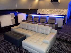 Theater seating mccabe39s theater and living page 3 for Corner home theater furniture