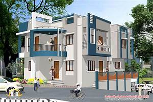 Indian home design with house plan