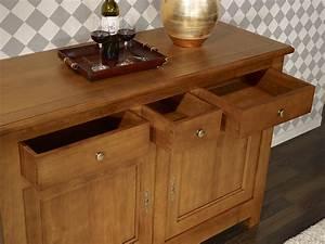 Buffet En Chene : buffet 2 portes en ch ne massif de style campagnard meuble en ch ne ~ Teatrodelosmanantiales.com Idées de Décoration