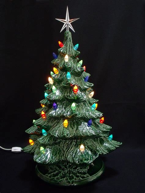 how to make a ceramic christmas tree vintage style ceramic tree 19 inch by darkhorsestore