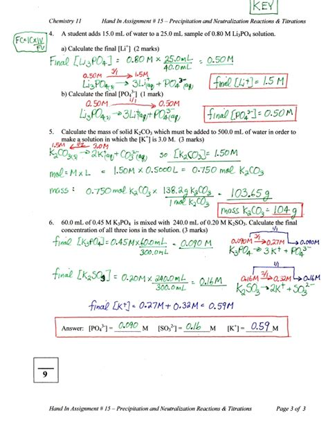 neutralization reaction worksheet worksheets for all