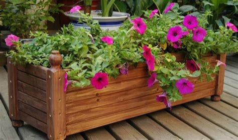 garden wood planter boxes flower planters modern by