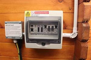 How To Install Electrics Into A Log Cabin