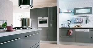 Hygena Cuisine Catalogue : cuisine hygena city grise brillant photo 1 20 prix 895 ~ Melissatoandfro.com Idées de Décoration