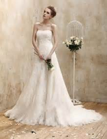 lace wedding dresses vintage strapless vintage lace organza wedding dress sang maestro