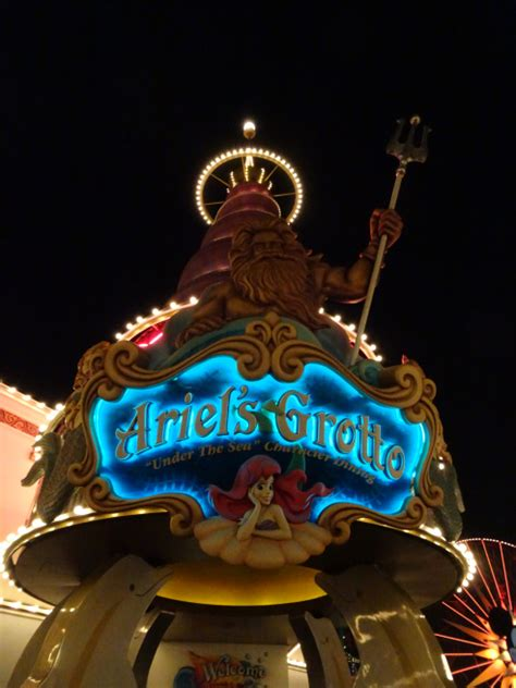 world of color dining ariel s grotto world of color dining package lottie does