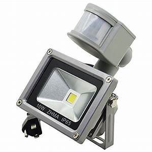 zhma motion sensor floodlights 10w led outdoor smart With smart sensor outdoor led lighting