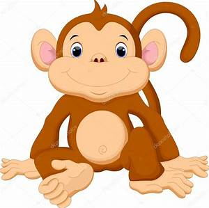 Cute baby monkey cartoon — Stock Vector © irwanjos2 #85858220