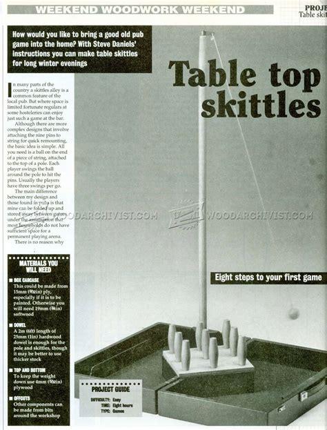 table skittles plans woodarchivist