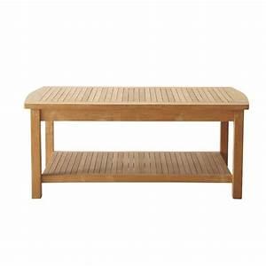 Table Basse Rectangulaire Bois : table basse de jardin bois figari maisons du monde ~ Teatrodelosmanantiales.com Idées de Décoration