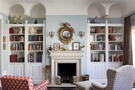 Living Room With Bookcases Ideas by Living Room Bookcases Eclectic Living Room San