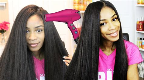 How To Blow Dry Crochet Braid Wigs Straight- Kanekalon