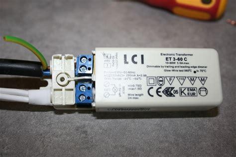 faire le branchement d un spot avec transformateur 12v et oule halog 232 ne