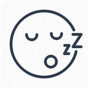 Avatar, emoticon, emotion, face, sleep, smiley, zzz icon ...