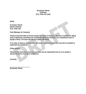 leave  absence letter create    template