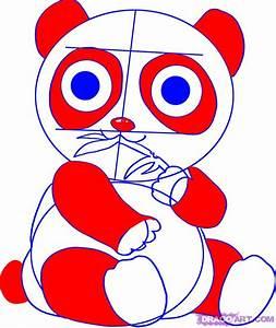 Draw a Cartoon Panda Bear, Step by Step, Drawing Sheets ...