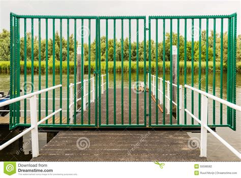 Boat Dock Gates by Closed Iron Gate On A Boat Dock Stock Photo Image 55598582