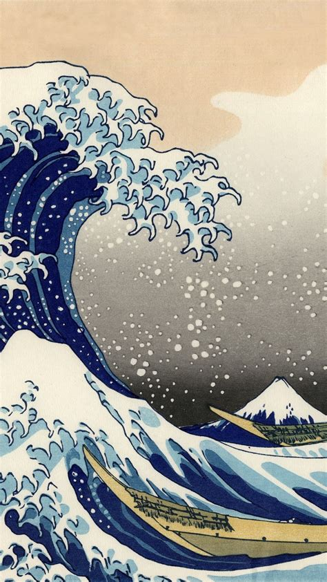 artistic  great wave  kanagawa wave japanese