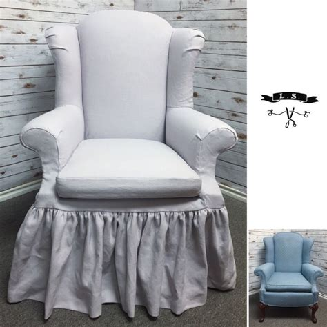 wing back chair slipcover 1000 images about slipcovers on custom