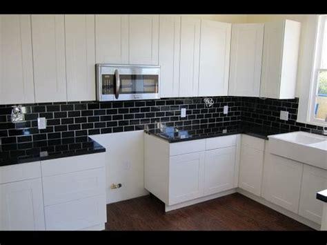 Black Countertop Backsplash - backsplash ideas for black granite countertops and white