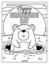 Groundhog Coloring Pages Dogman Printables Happy Dog Preschoolers Adorable Spring Whitesbelfast sketch template
