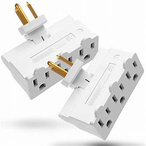 3 Outlet Wall Adapter  2 Pack   Fosmon Etl Listed 3