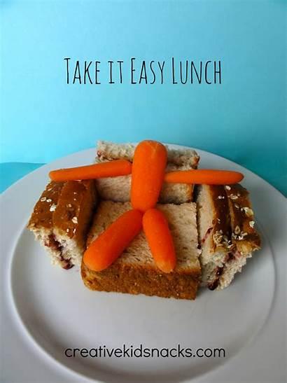 Lunch Creative Snacks Sandwich Easy Take Kid