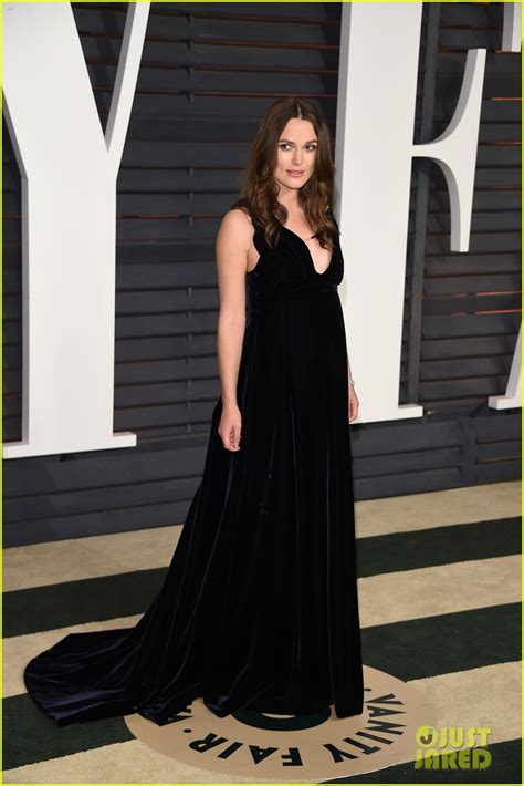 Vanity Fair Keira Knightley by Keira Knightley Dresses Baby Bump In Black For Vanity