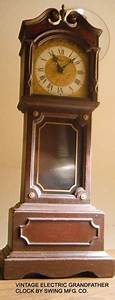Free  Vintage Miniature Electric Grandfather Clock By