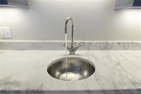 hammered nickel bar sink hammered nickel bar sink with polished nickel faucet