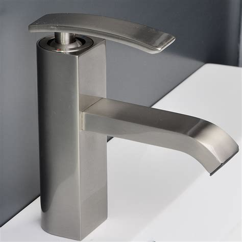 bathroom faucet brushed nickel ouli