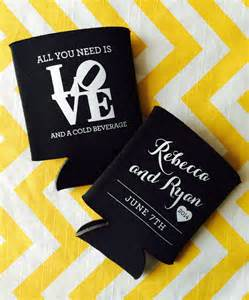 what all do you need for a wedding came for the i do 39 s stayed for the free booze wedding can cooler wedding koozie rook design co