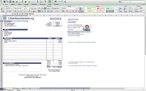 invoice template mac invoice template excel mac invoice exle
