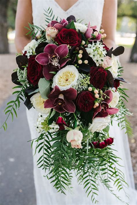 jaimi alexs modern black tie wedding  burgundy