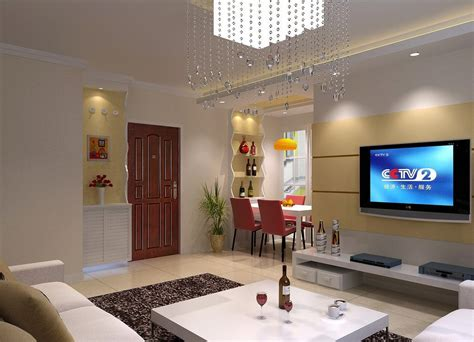 simple interior design living room 3d house