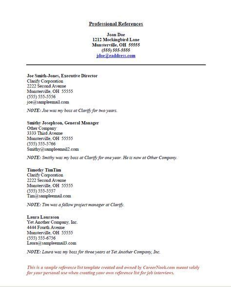 Reference Page Resume by How To Title References Page For Resume Career