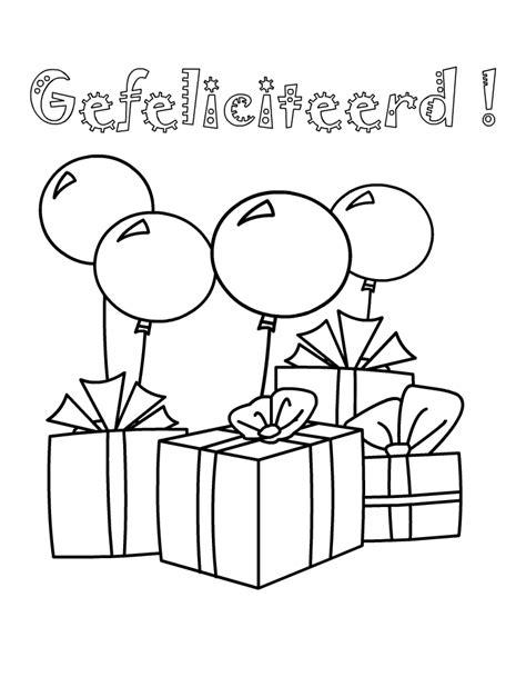 Kleurplaat Kikker Verjaardag by Gefeliciteerd Kleuren Is Leuk