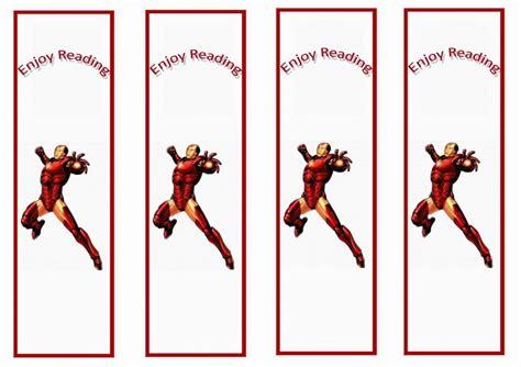 iron man bookmarks birthday printable