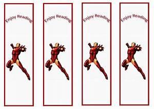 21 Birthday Invitations Free Iron Man Bookmarks Birthday Printable