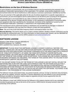 Arris Sbg6900 Wireless Cable Modem  U0026 Router User Manual Rev