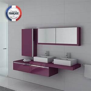 Meuble Vasque Double : meuble de salle de bain double vasque meuble de salle de bain design double vasque ~ Teatrodelosmanantiales.com Idées de Décoration