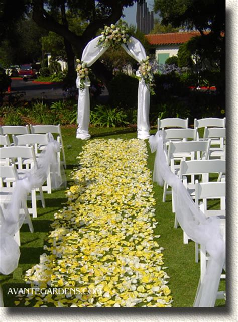 Outdoor Wedding Decorations by Wedding Inspiration An Outdoor Ceremony Aisle Wedding Bells