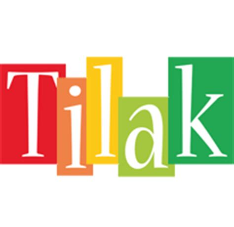 Tilak Logo  Name Logo Generator  Smoothie, Summer. Dec Signs. Custom Size Label Printing. Always Kiss Me Goodnight Lettering. Cute Title Banners. Bulb Signs. White Background Lettering. Hope Stickers. Birthday Wall Banner