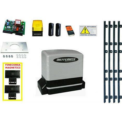 cremagliera cancello scorrevole kit motore automazione cancello scorrevole con 4 mt