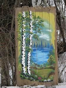 Pallet, Painting, Feb, 17, Painted, By, Dennis, Rawluk