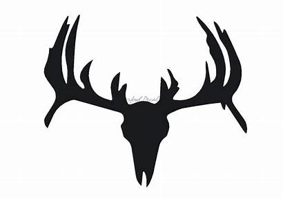 Deer Skull Decal Antler Stickers Decals Silhouette