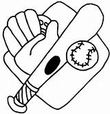 Baseball Coloring Bat Glove Ball Mount Equipment Drawing Stuff Cliparts Favorite Clipart Getdrawings Popular Favorites sketch template