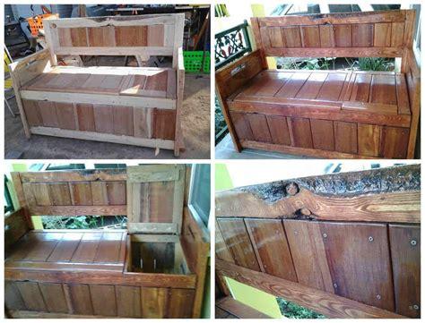 diy pallet storage bench pallet ideas  pallets